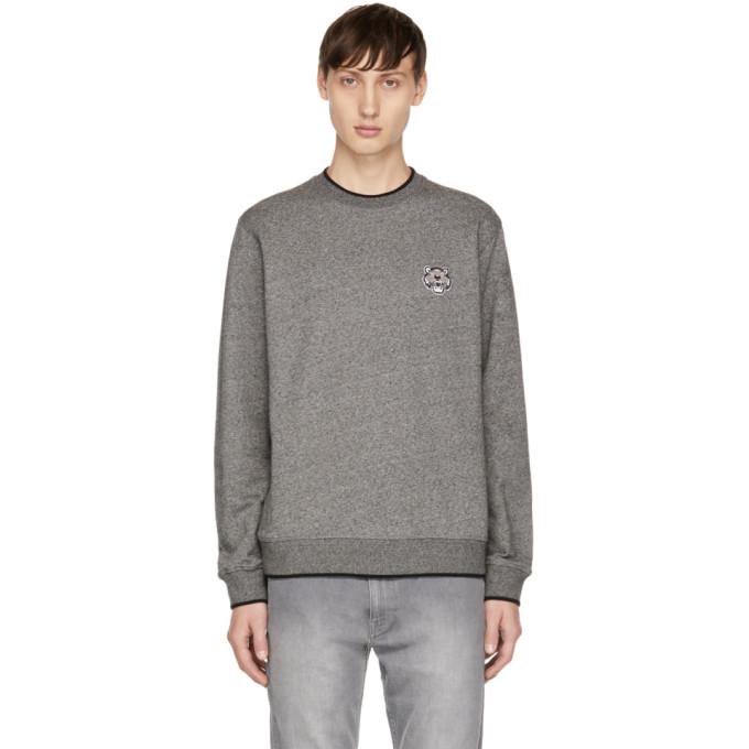 Kenzo Grey Tiger Crest Sweatshirt