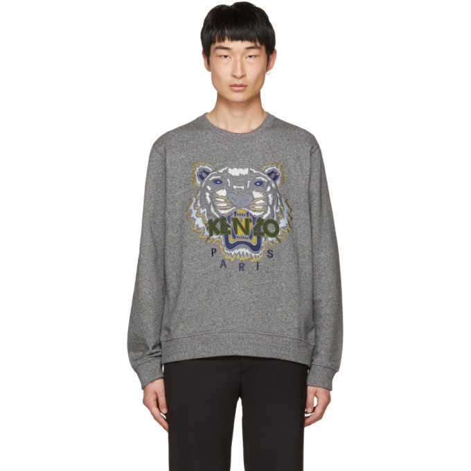 Kenzo Grey Tiger Sweatshirt