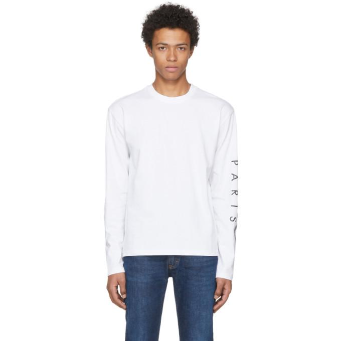 Kenzo ホワイト ロゴ スリーブ T シャツ