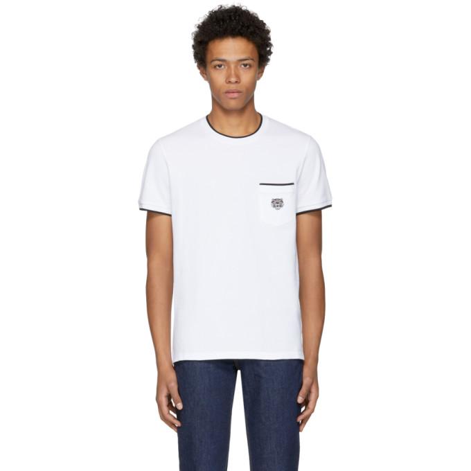 Kenzo White Piqué T-Shirt