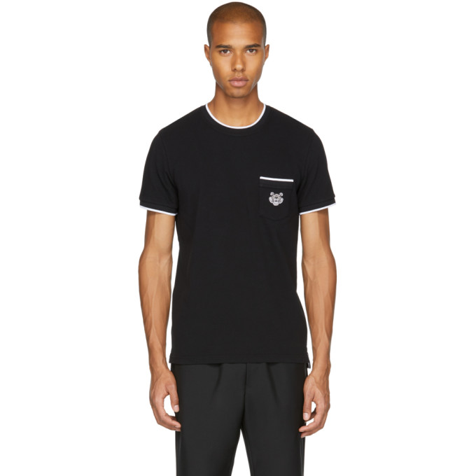 Kenzo Black Piqué T-Shirt