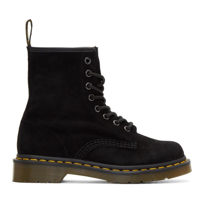 Dr. Martens Black Suede 1460 Boots