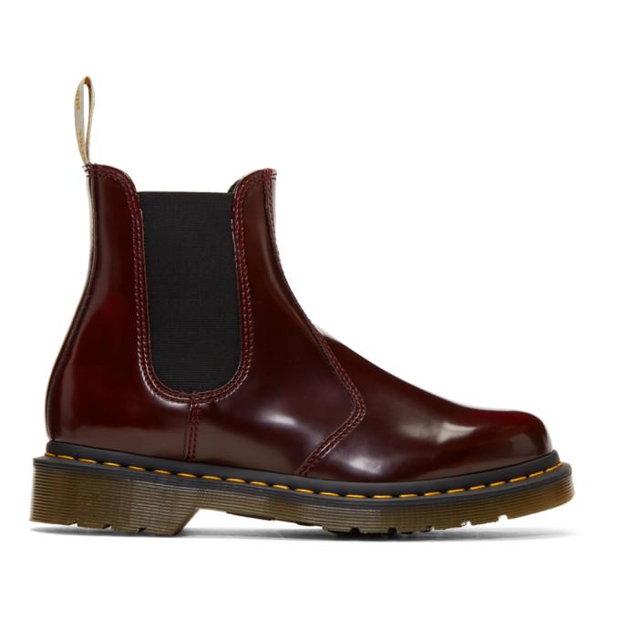 Dr. Martens Red Vegan 2976 Chelsea Boots
