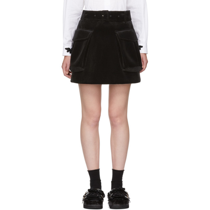 Image of Simone Rocha Black Cargo Pocket Miniskirt