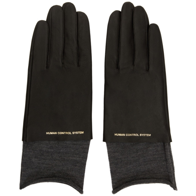 Image of Undercover Black Leather Gloves