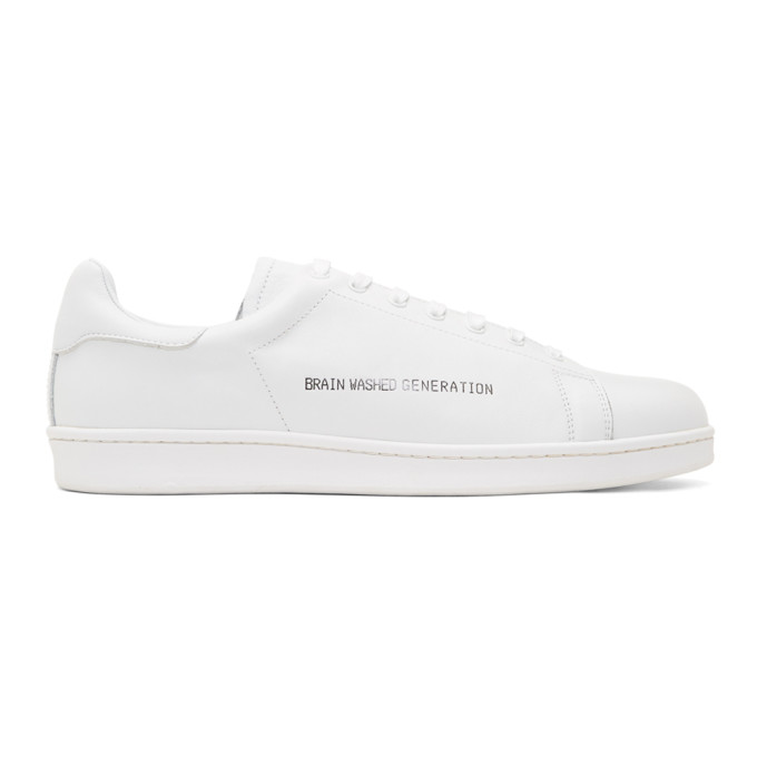 Image of Undercover White 'Brain Washed Generation' Sneakers