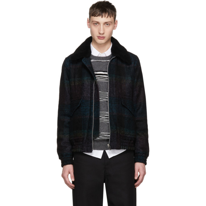 Image of PS by Paul Smith Black Buffalo Check Jacket