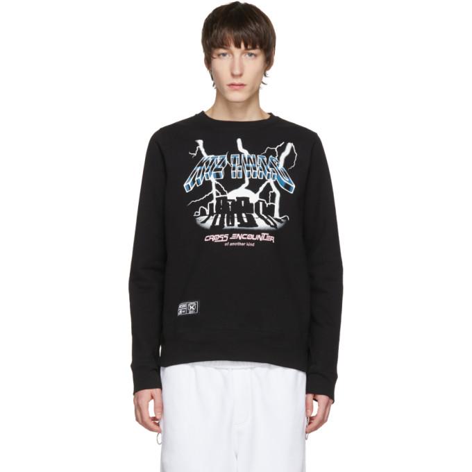 Image of KTZ Black 'Cross Encounter' Sweatshirt