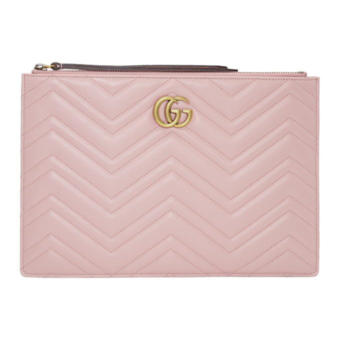 Gucci Pink GG Marmont 2.0 Pouch