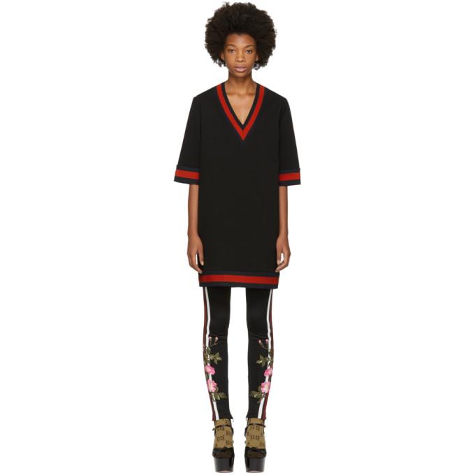 Gucci ブラック ストレッチ ビスコース ウェブ ドレス