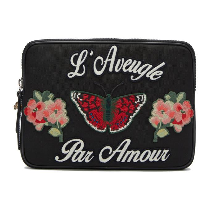 Gucci Black 'L'Aveugle Par Amour' Pouch