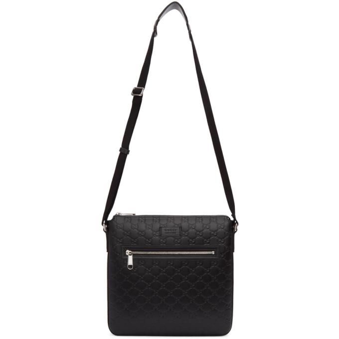 Gucci Black 'Gucci Signature' Messenger Bag