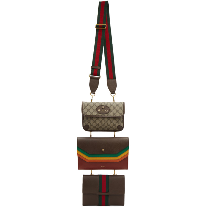 Gucci Three-Pack Multicolor Pouch Bags