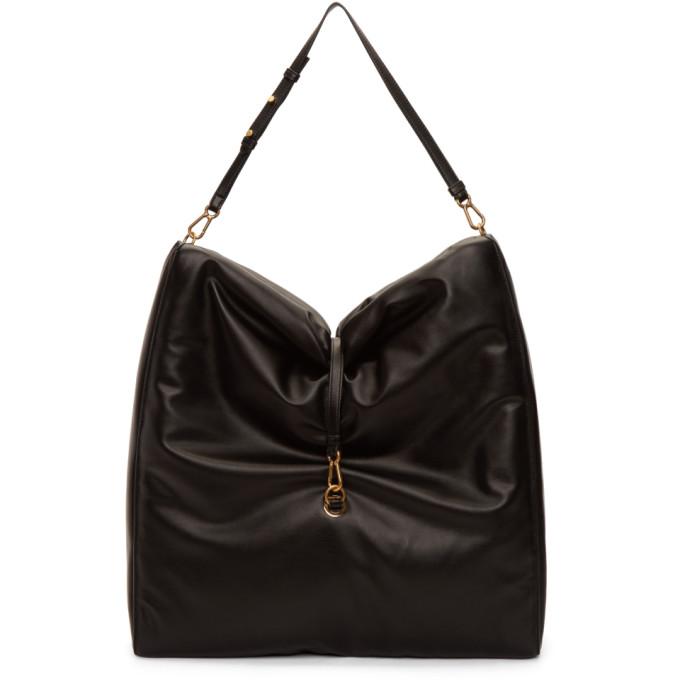 Stella McCartney Black Big Bubble Hobo Bag