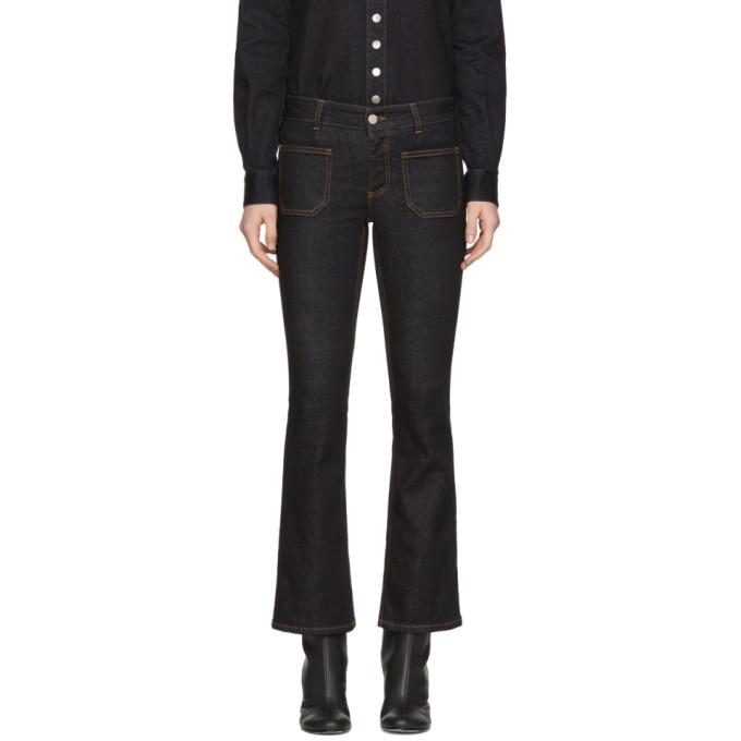 Stella McCartney Blue Skinny Flare Patch Pocket Jeans