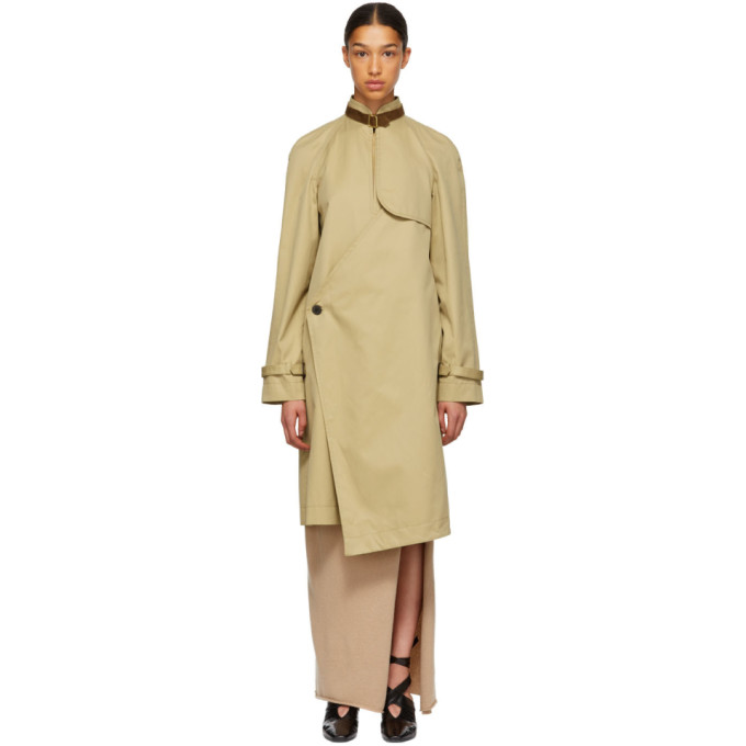 Image of JW Anderson Beige Asymmetric Trench Coat