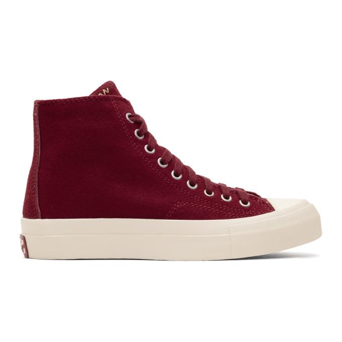 Visvim Burgundy Skagway High-Top Sneakers