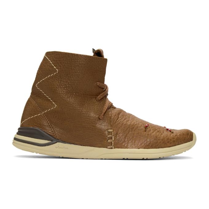 Visvim Brown Huron Moc High-Top Sneakers