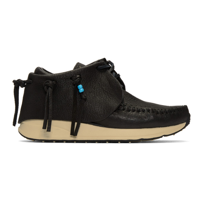 Visvim Black FBT Moccasin Sneakers