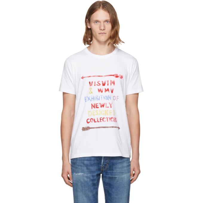 Visvim ホワイト ビンテージ ステンシル T シャツ