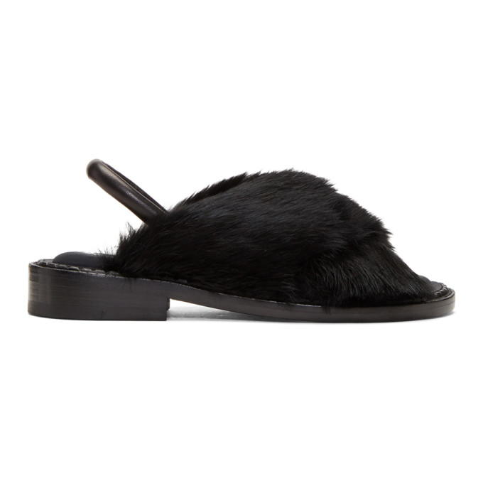 Image of Clergerie Black Bloss Sandals