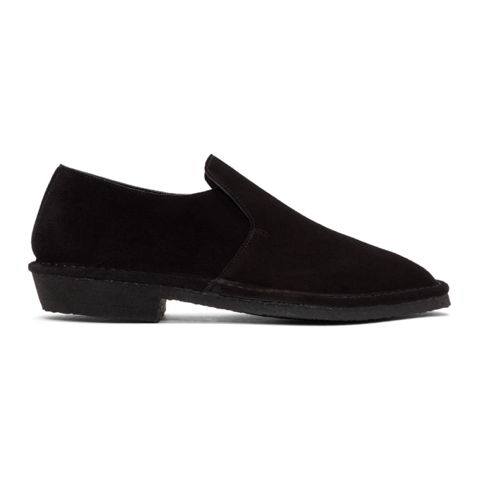 Image of Clergerie Black Suede Loafers