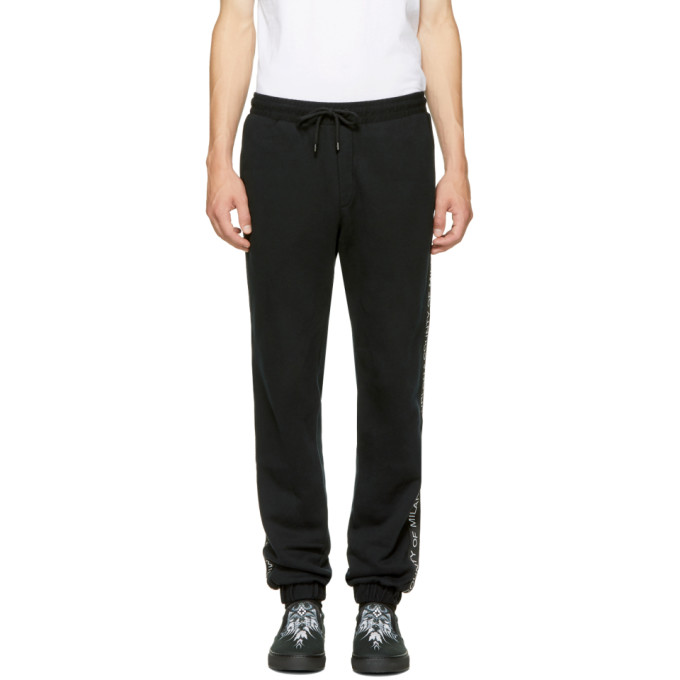 Marcelo Burlon County of Milan Black Mako Lounge Pants