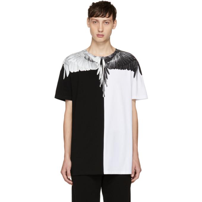 Marcelo Burlon County of Milan White & Black Aish T-Shirt
