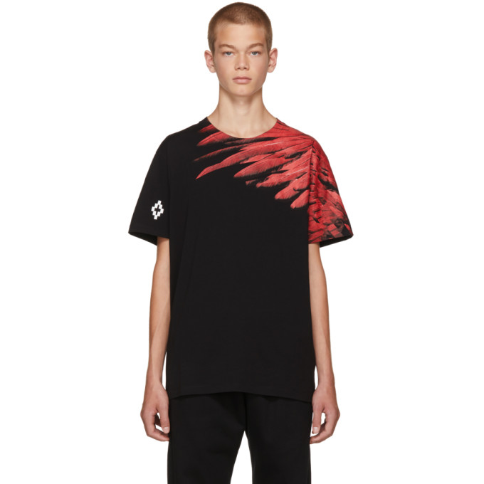 Image of Marcelo Burlon County of Milan Black Adil T-Shirt