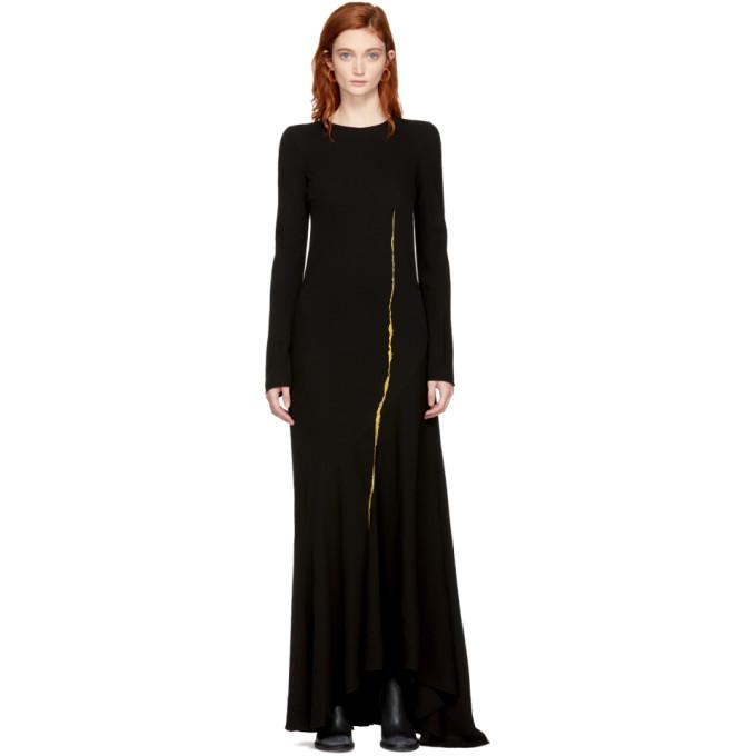 983c943bb1 Haider Ackermann Black Embroidered Round Shoulder Dress