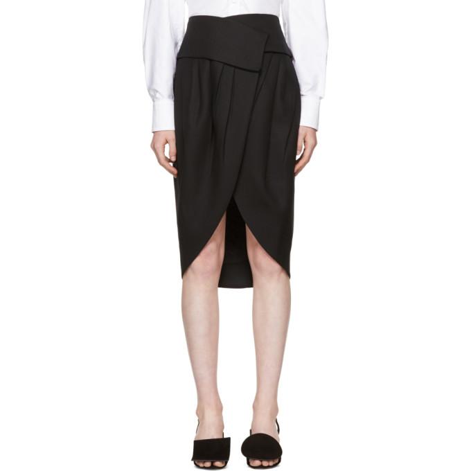 Jacquemus Black 'La Jupe Porte-Feuille' Skirt