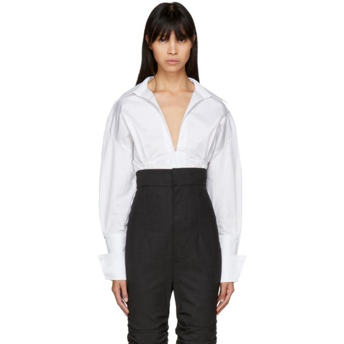 Jacquemus White & Black Striped 'La Chemise Paula' Shirt