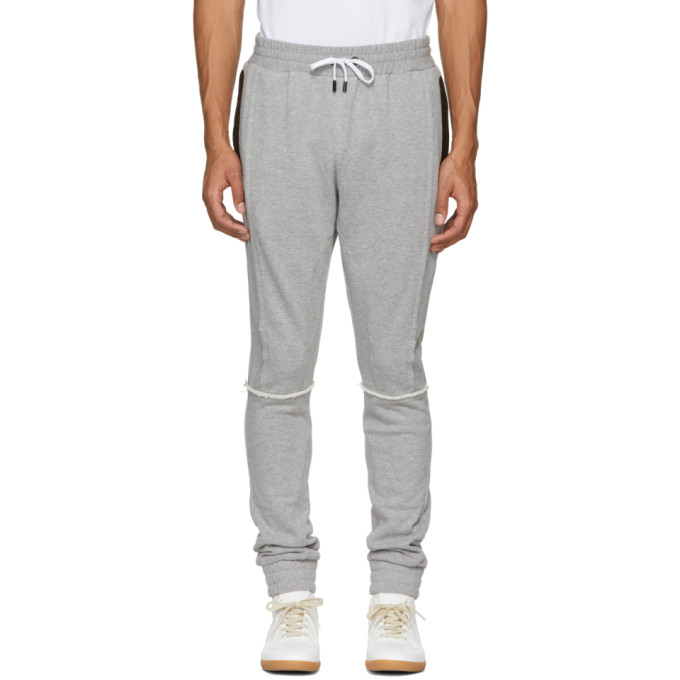 Image of Pyer Moss Grey Tapered Lounge Pants