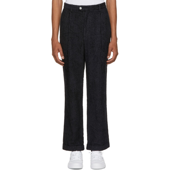 Image of Pyer Moss Grey Pinstripe Trousers