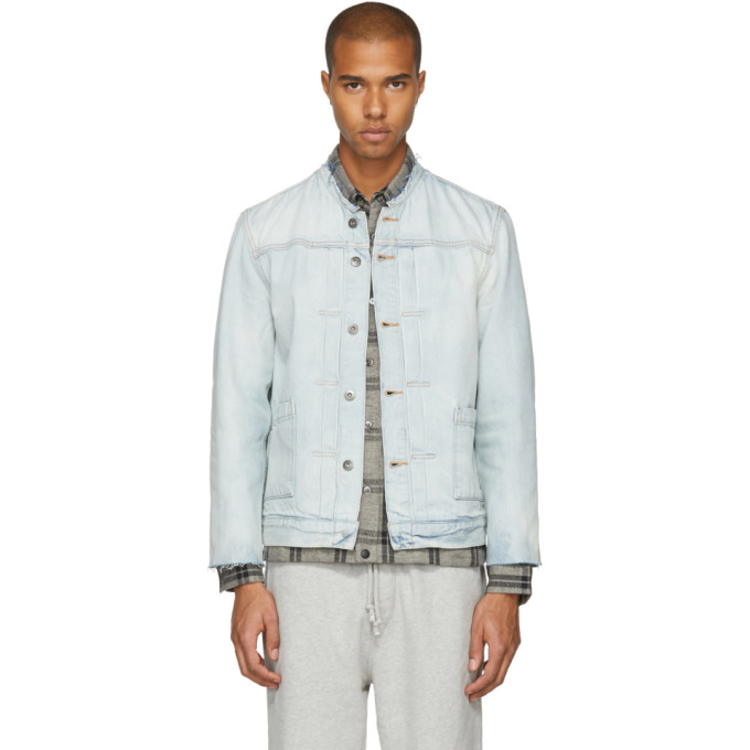 Levis Made & Crafted Blue Denim Type II Cut-Off Trucker Jacket