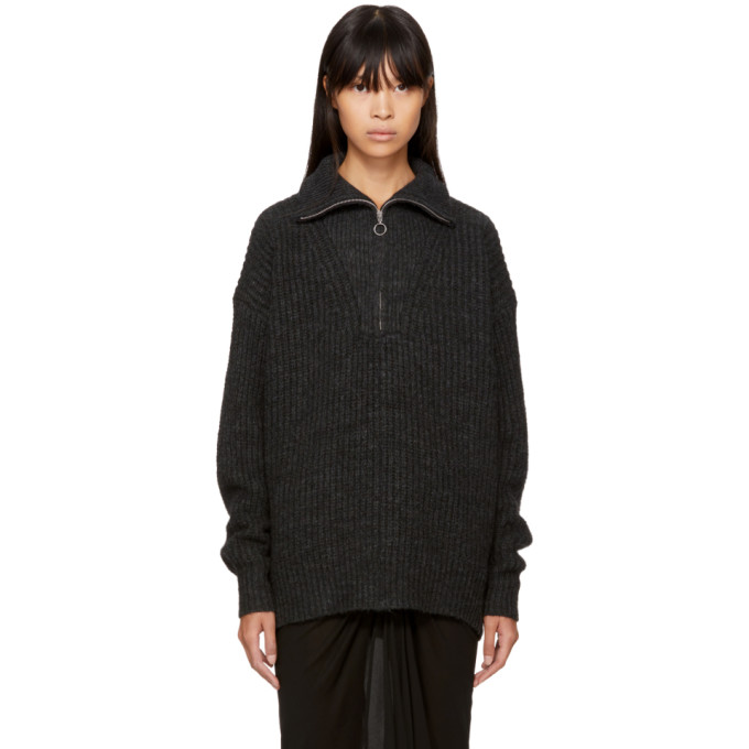 ISABEL MARANT ÉTOILE | Isabel Marant Etoile Black Declan Zip Sweater | Goxip