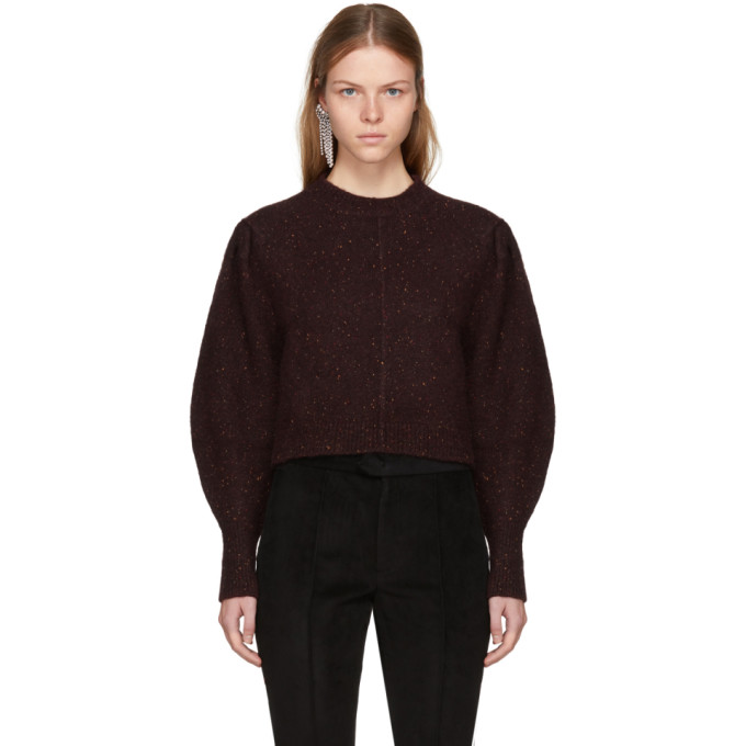 Isabel Marant Burgundy Elaya Sweater