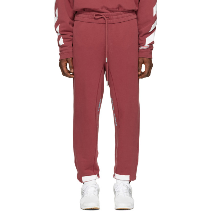 OFF-WHITE RED DIAGONAL ARROWS LOUNGE PANTS