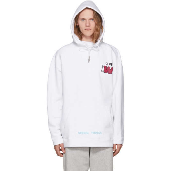 Off-White White Ladder Over Hoodie