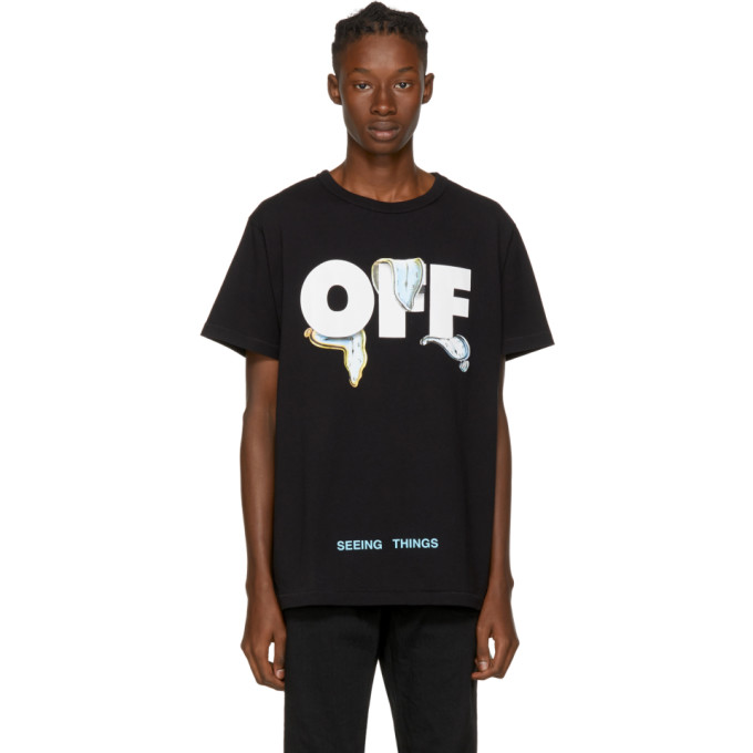 OFF-WHITE BLACK NOT REAL WATCHES T-SHIRT