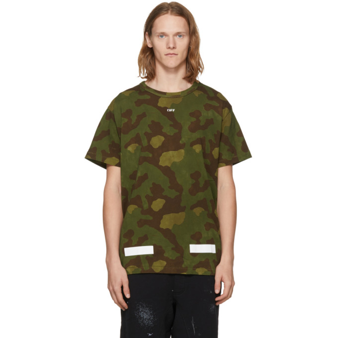 OFF-WHITE GREEN CAMO T-SHIRT