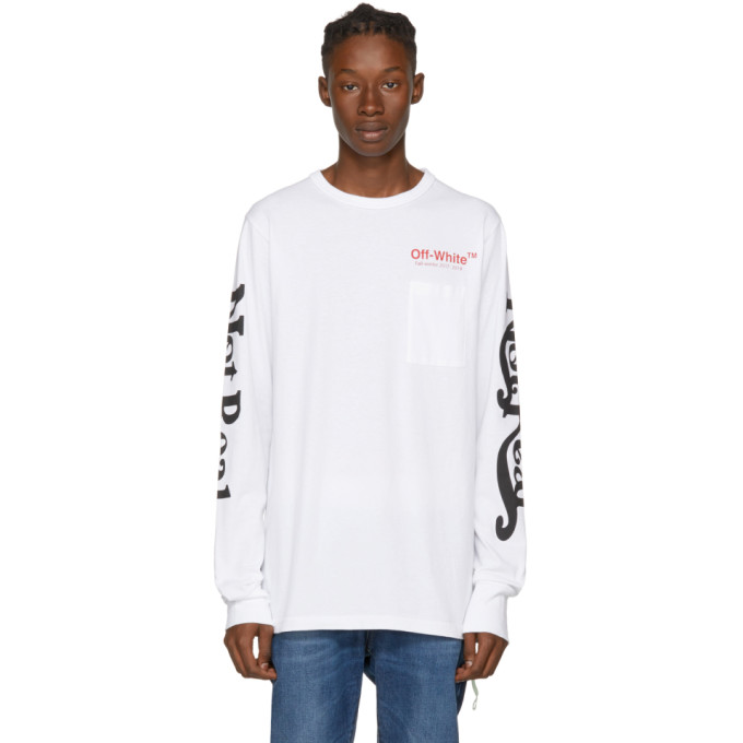 OFF-WHITE WHITE LONG SLEEVE NOT REAL T-SHIRT