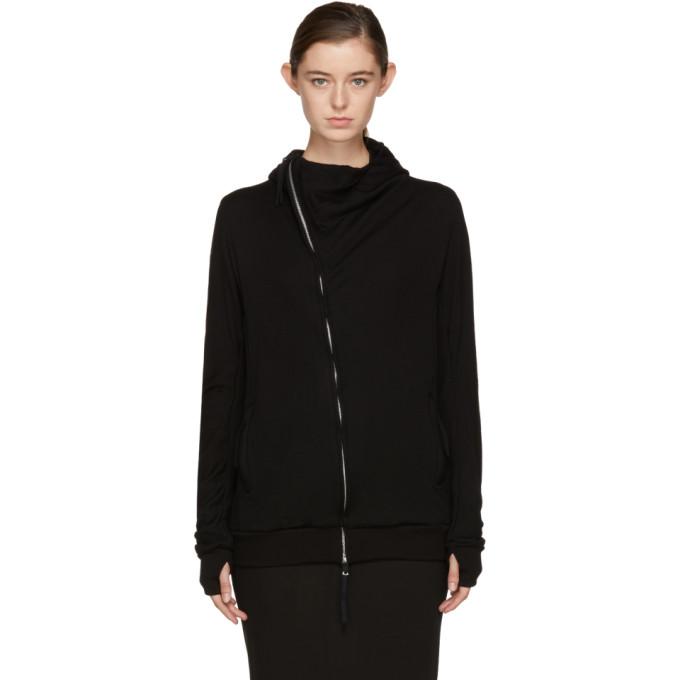 Image of Boris Bidjan Saberi Black Zipper '2' Long Hoodie