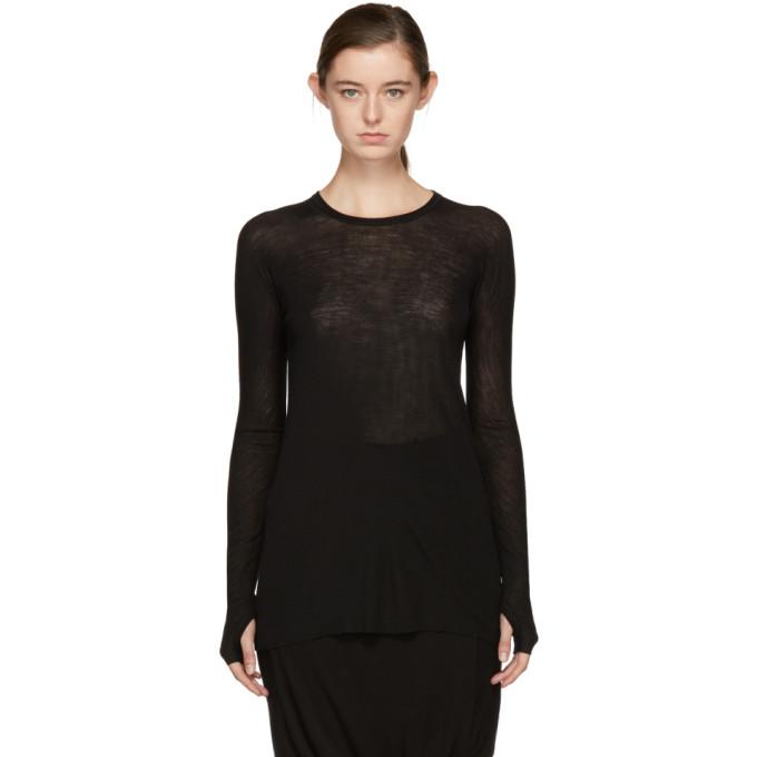 Image of Boris Bidjan Saberi Black Long Sleeve '1' T-Shirt