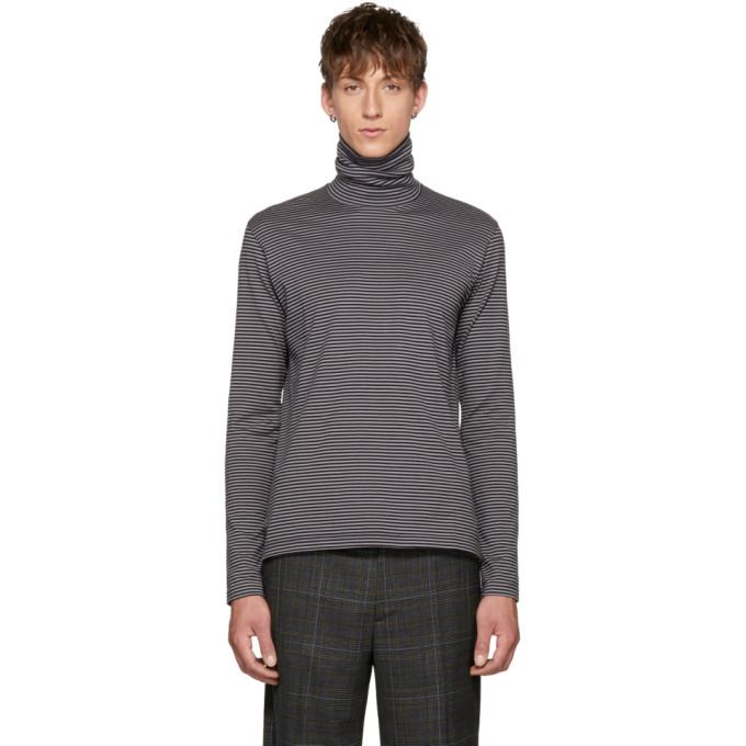 Image of Johnlawrencesullivan Black & Grey Striped Turtleneck