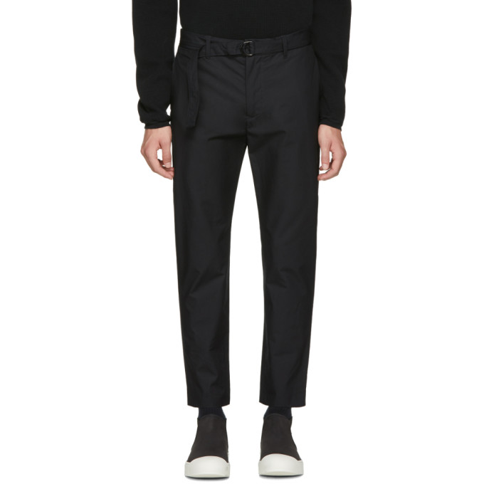 Image of Undecorated Man Black Slim Trousers