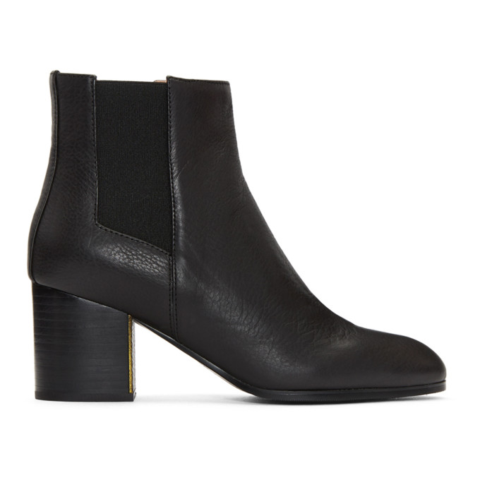 Image of Jil Sander Navy Black Treben Boots