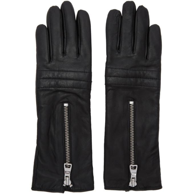 Won Hundred Black Libelle Leather Gloves