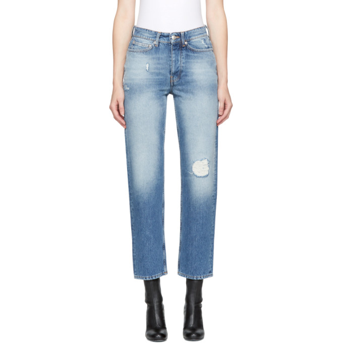 Won Hundred Blue Distressed Pearl Jeans