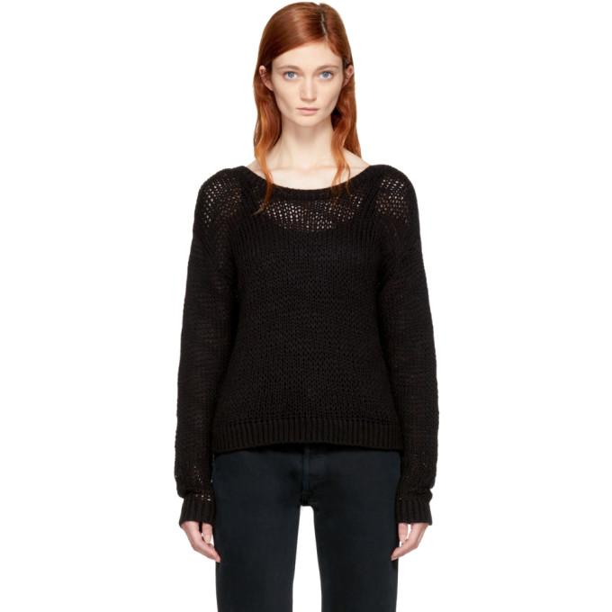 Image of Won Hundred Black Cropped Zarina Sweater